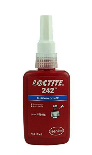 echtem Henkel LOCTITE 242Stärke Medium–mittlere Viskosität–threadlock–alle Metall selbstklebend–Kleber 50ml–50Stück