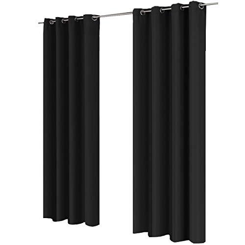 Gräfenstayn® Cortina opaca, 140x 245cm en muchos coloresatractivos –Cortina / cortinas decorativas–Modelo Ocean 10003983