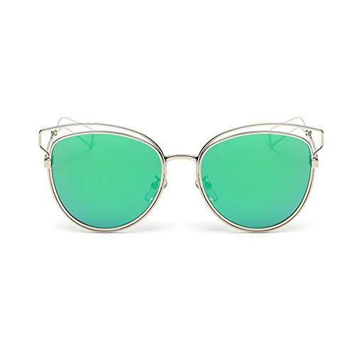 SKCLBOOS Sonnenbrillen Cateye Sonnenbrille Damen Marke Sonnenbrille Frauen Retro Sonnenbrille Spiegel Designer Oculos Lunette Femme Sonnenbrille