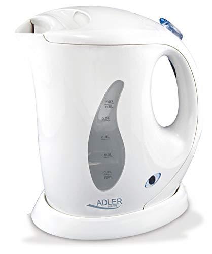 Adler AD 02 0,6 L Mini-Wasserkocher, weiß