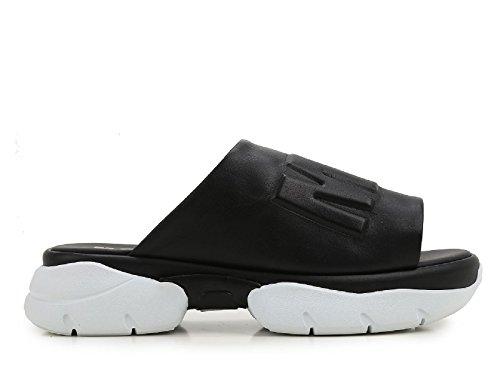 Nu-pieds MSGM pour femme en cuir noir - Code modèle: 2241MDS26 050 Noir