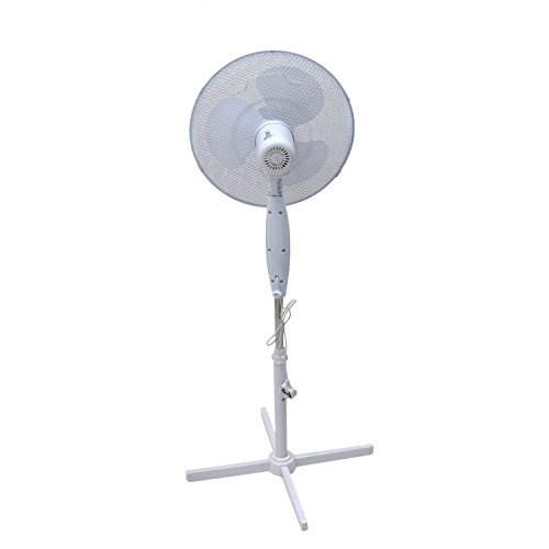 31XIab6L8dL. SS500  - Generic Electrical 16-Inch Oscillating Pedestal Stand Fan - 3 Settings