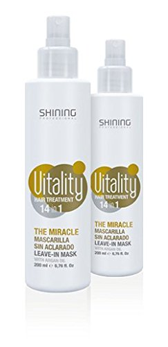 Mascarilla sin aclarado con aceite de argan Shining Professional 200ml