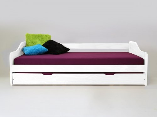 Kojenbett inkl. extra Bett 2x Lattenroste Kiefer weiss lackiert