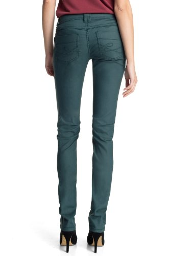 edc by ESPRIT - Pantaloni, slim fit, donna verde (Grün (301 DARK CYAN GREEN))