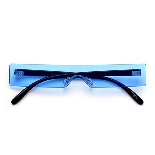 WTACK Rechteck SonnenbrilleDamenmodeRot Rosa Klar Kleine Linse Persönlichkeitsonnenbrilleshades