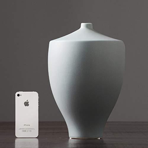 Uofr Moderne chinesische amerikanische Keramik Vase Handwerk eingerichtet getrocknete Blumen Vase Hochzeit Vase Mittelstücke für TabellenHauptdekoration, E 19x29cm