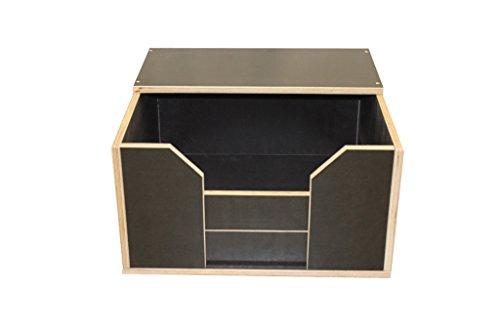 Artikelbild: Easy-Hopper Wurfbox / Welpenbox / Schlafplatz Komfort mit Ablage 60x60cm