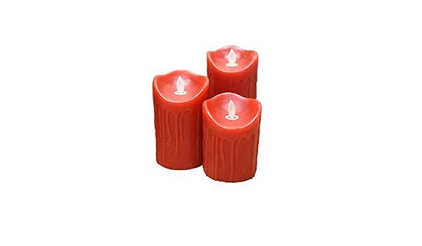 Candle Lights China Red Wedding Preferred LED Electronic Candle Light Swinging Simulation Paraffin Fake Candle Bar Wedding Light 5.3CM///Single 5.3 8cm