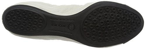 Geox - Charlene A, Ballerine Donna Bianco (White (Off White/Black))