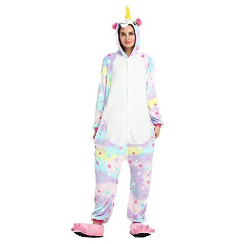 Adult Hooded Sleeper Unisex Flannel Pyjamas Neuheit Tiernachtschwärmer One-Piece Sleepsuits Xmas Kostüme Cosplay Jumpsuits Frauen Sleepwear,White1,XL