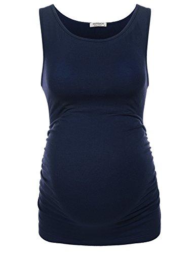 UNibelle Mutterschaft Basic Tank Top Mama Kleidung Hals Sleeveless Tops Frauen Solide Seite Rüschen Weste
