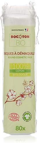 BOCOTON 100% Organic Bio Cotton Pads for MakeUp 80s