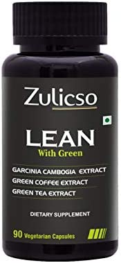 Zulicso Lean Vegetarian Capsules with Natural Garcinia Cambogia, Green Coffee and Green Tea Extract - 90 Veg C