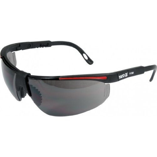 Arbeitsschutzbrille dunkel getönt, verstellbare Bügel, Schutzbrille, Sonnenbrille