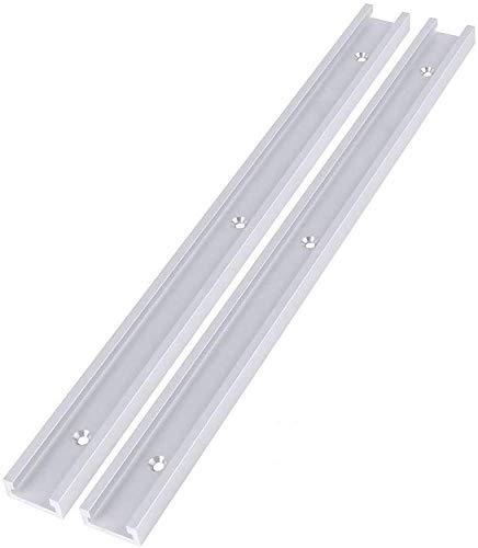 2 Stück 400mm/800mm Aluminiumlegierung T-Track T-Slot Track für Holzbearbeitung oder Router Tischsäge(400mm)