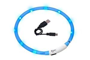 Karlie Visio Light Collier à LED pour chien pouvant être raccourci 70 cm