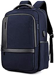 Male Business Backpack Nylon Waterproof College Men Student Schoolbag Computer Multifunctional Bag Travel USB