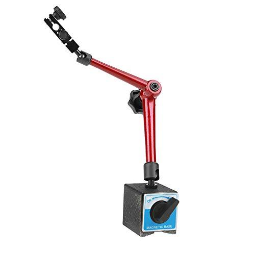 Magnet Messstativ, 350mm Einstellbare Universal Magnetfuß Halter Stand mit Zentralklemmung für Dial Test Gauge Indicator