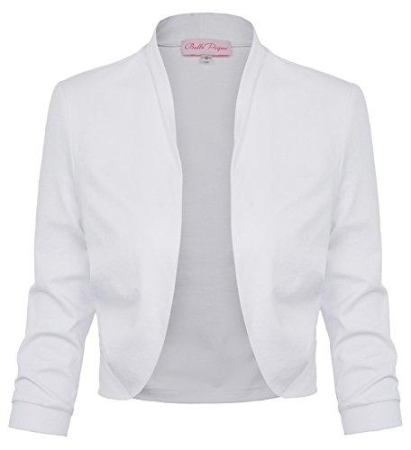 Belle Poque Veste Boléro pour Femme Veste Boléro Festive Cotton Shrugs BP512-2