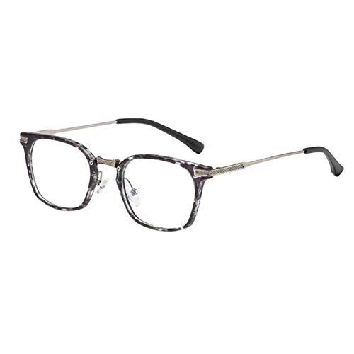 BFLHBBF Spiegeln Leichte Brillen - Brillen Für Computer Tv Blaues Licht Blockieren Optische Gläser Tr90 Rahmen Retro Männer Frauen Goggle