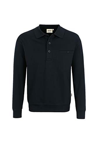 Hakro Herren Pocket-Polo-Sweatshirt Premium # 457 (XL, schwarz)