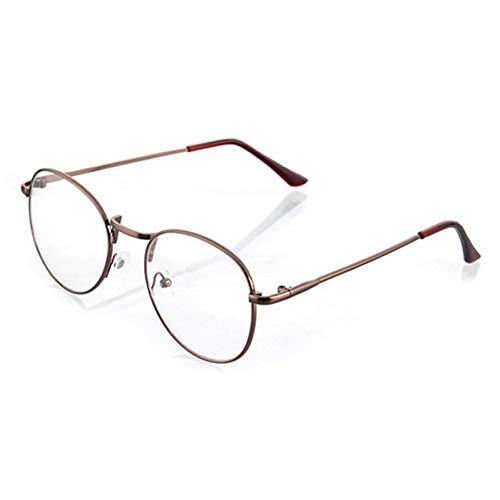 YLNJYJ Sonnenbrillen Mode Vintage Brillen Frames Für Frauen Brillen Plain Spiegel Literarischen Harajuku Metall Runde Rahmen Gläser Neue Feminino