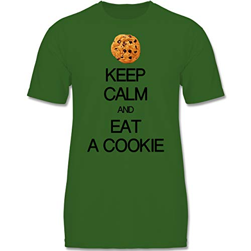 Up to Date Kind - Keep Calm and eat a Cookie - 152-164 (12-14 Jahre) - Grün - F140K - Jungen ()