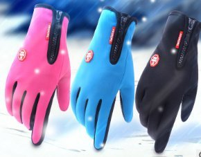 Wasserdichte Touchscreen-Handschuhe, mit Full-Finger-Design, für Outdoor-Sport Klettern Kleid Fahren Radfahren Motorrad Camping etc (drei Farben) (Medium, Schwarz)