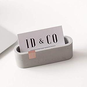 Atelier Ideco – Grauer Une Roségold Konkreter Visitenkartenständer Für Schreibtisch