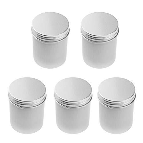 Homyl 5pcs 80ml 8pcs Pot Cosmétique Vides Flacon Maquillage Voyage en Aluminium Portable de Crème Poudres Outil de Cosmétique