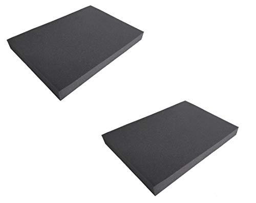 2x Schaumstoffmatte Sitzkissen Schaumstoff Kissen Stuhl Polster Auflage Multifunktional 50x35x4,5cm (2 Matten) -
