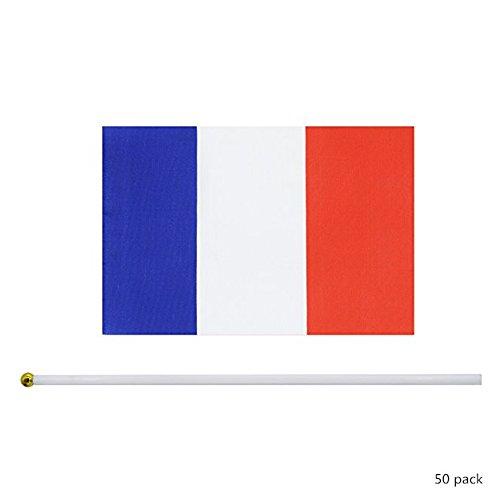 (GZQ World Cup Flaggen 50Stück Hand Held Mini Flagge Wimpelkette für Bar Party Fans Sport Vereine Garden Banner Internationales Festival Dekorationen 20,8x 14cm)