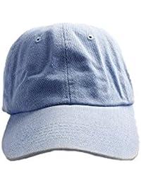 Accessoryo - Bonnet de style de baseball denim bleu unisexe