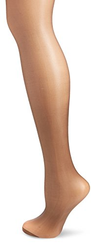 Pretty Polly Damen Strumpfhose Nylons-10D Gloss Lace Top Hold Ups, 10 Den, Schwarz (Barely Black), Small (Schiere 10 Denier)