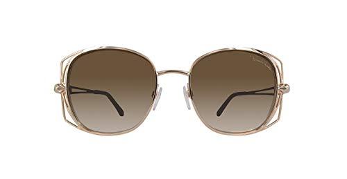 Roberto Cavalli Damen Rc1031-28G-Gold Sonnenbrille, Gold, 55