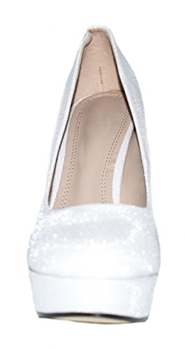 Elara , chaussures compensées femme Blanc