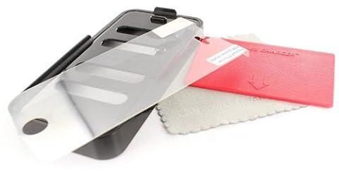 Swiss Charger SCP51001 Lot de 2 Films de protection d'écran Ultra résistant en plastique + Applicateur pour iPhone 5