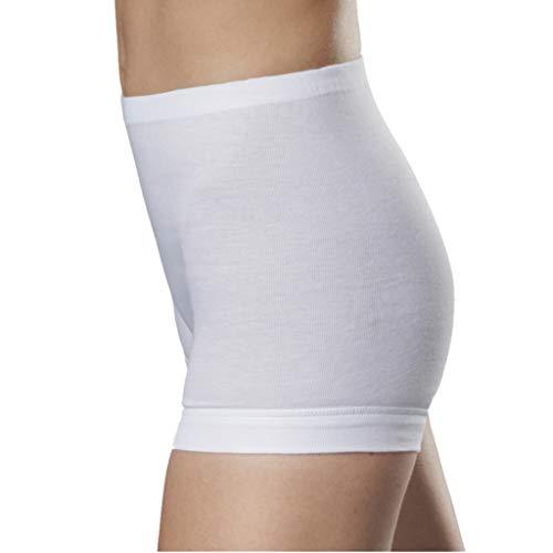 5er Spar-Pack Con-ta Damen Pagen-Schlüpfer mit Bein - Feinripp Unterhose - 100% Baumwolle - Weiß - Kochfest und Trockner geeignet (52, 5 X Weiß)