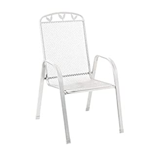 Stapelsessel weiß 55x73x97cm 'Gjøvik'