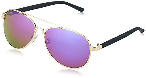 MSTRDS Unisex Sunglasses Mumbo Mirror Sonnenbrille, Silber (Silver/Purple 4472), One size