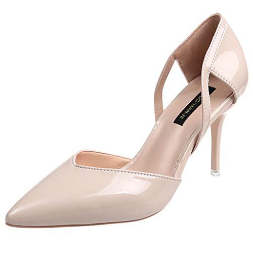 MakefortuneDamen Spitzschuh Stilettos High Heel Slip On Kleid Pumps Pumps Pumps High Heel Pumps