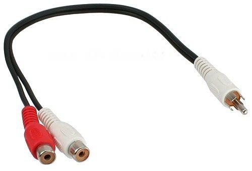 mumbi Cinch Verteiler Y-Adapter / Cinch-Y-Kabel, 1x Cinch/Klinke Stecker zu 2x Cinch Buchse, 20cm Cinch-buchse Audio