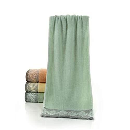SKKG Handtuch aus Baumwolle, saugfähig, für den täglichen Gebrauch, für Paare, Bad, Zuhause, Hotel, Strand, Schwimmbad, Spa, Sport, Laufen, Retro-Geschenk, Badetuch, Küche, grün, 35x75cm - Gaucho-kleid