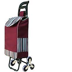 HUACANG Escaliers s'élevants portatifs de Chariot à achats for Acheter Le Panier Se Pliant à la Maison de Chariot de Nourriture