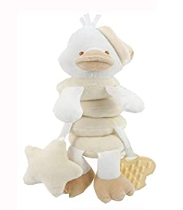 Duffi Baby- Peluche Espiral Patito, 100% Poliéster, Color Natural (Master Baby Home, S.L. 0764-05)