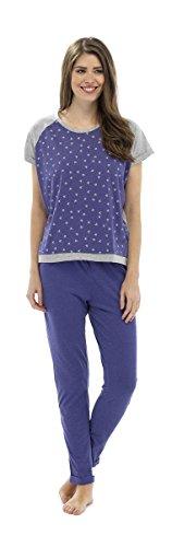 Set Pyjama Imprimé Star à manches courtes pour femme Blanc - Violet
