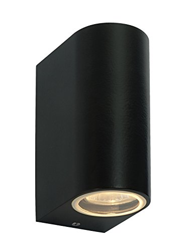 Modern Black Double Outdoor Wall Light IP44 Up/Down Outdoor Wall Light