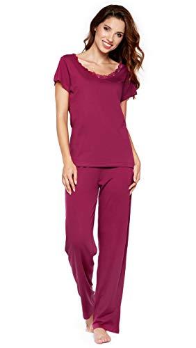 6f23390dcb Moonline moderner und bequemer Damen Pyjama/Shorty / Capri Schlafanzug, mit  weicher Baumwolle,