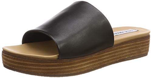 enca Slip-on Zehentrenner, Schwarz (Black Leather 017), 38 EU ()